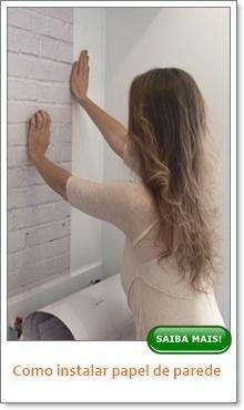 Como instalar papel de parede?